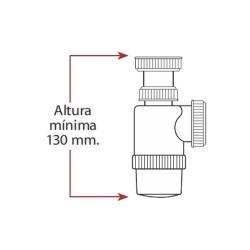 """Mini sifon botella - extensible - 1"""" 1/2"""""""