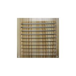 *ult.unidades*  rejilla plana ventilacion 200x200mm color madera clara