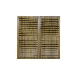 *ult.unidades* rejilla plana ventilacion 300x300mm color madera oscura