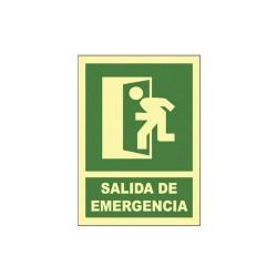 Cartel señal salida de emergencia (iz)