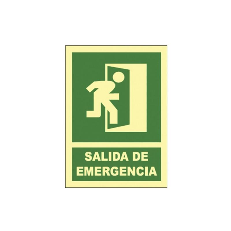Cartel señal salida de emergencia (der)  fotolum a4-b