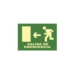 Cartel señal salida de emergencia (iz) 32x16cm